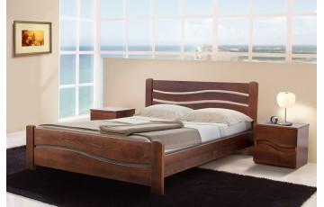 Ліжко дерев'яне двоспальне Вівія (Ясен), 160*200 см,  узголів'я 82 см