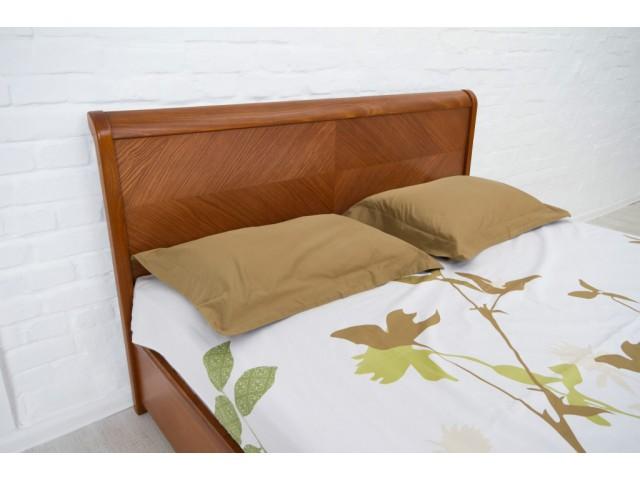 Ліжко дерев'яне полуторне / двоспальне Ассоль (Бук) з підйомним механізмом, узголів'я 92см