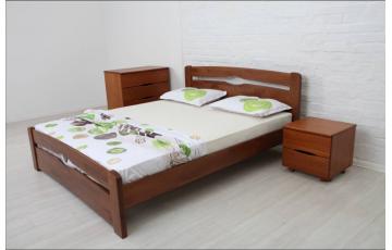 Ліжко дерев'яне односпальне/ полуторне / двоспальне Кароліна (Бук) з узніжжям