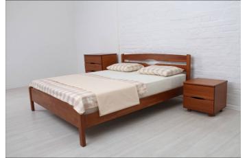 Ліжко дерев'яне односпальне / двоспальне Лікерія Люкс (Бук) без узніжжя