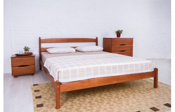 Кровать деревянная односпальная / двуспальная Ликерия (бук) без изножья