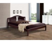 Ліжко дерев'яне двоспальне Марго (Вільха), 160*200 см,  узголів'я 91 см