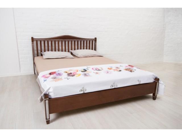 Ліжко дерев'яне полуторне / двоспальне Монблан (узголів'я 94,6см)