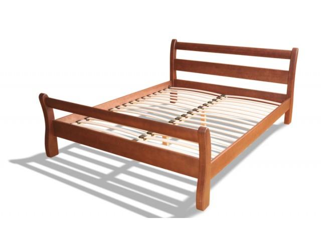 Ліжко дерев'яне двоспальне Монреаль (Вільха), 160*200 см,  узголів'я 89 см