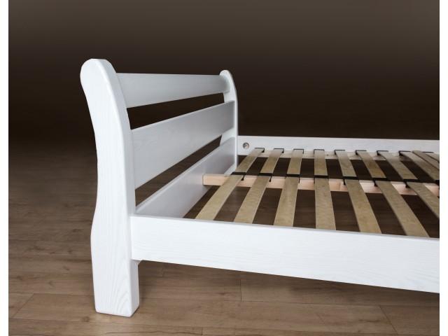 Ліжко дерев'яне двоспальне Монреаль (Ясен), 160*200 см,  узголів'я 70 см
