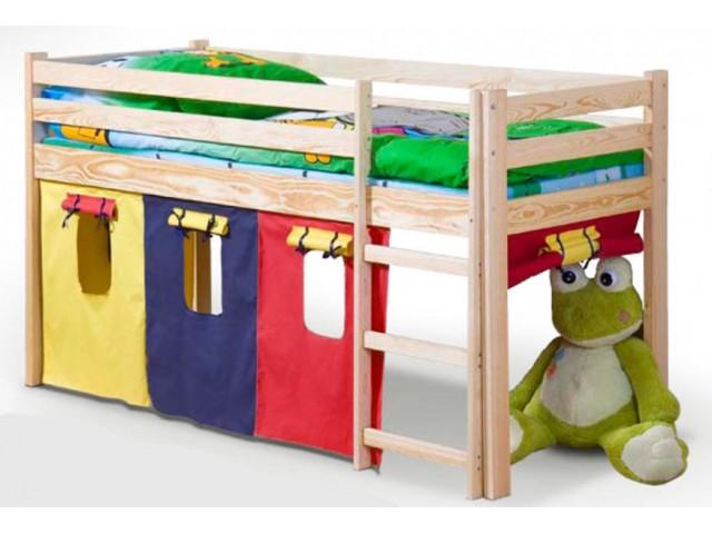 Ліжко дитяче з драбинкою Halmar Neo сосна