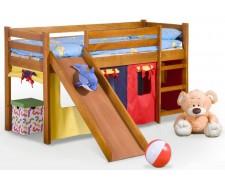 Кровать детская с горкой Halmar Neo Plus Ольха Сосна