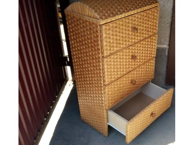 Комод плетений з лози 4ка Меблевий Дутий верх