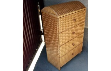 Комод плетеный из лозы 4ка Мебельный дутый верх