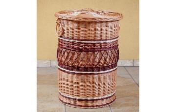 Кошик для бiлизни плетений з лози Круглий