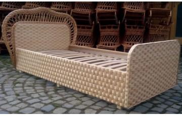 """Ліжко дерев'яне плетене з лози """"Королівське"""""""