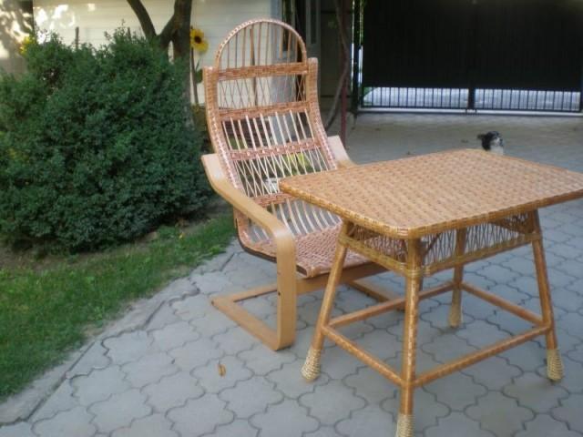 Крісло качалка плетене з лози Амортизатор