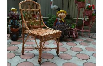 Стілець плетений з лози Елегант