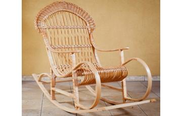 Крісло качалка плетене з лози Комфорт