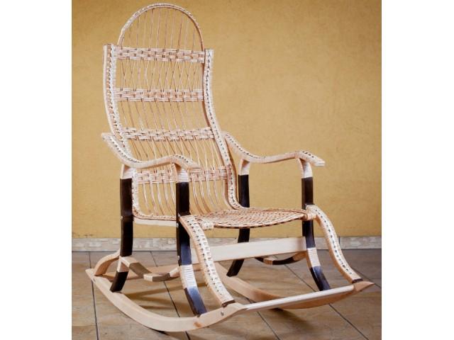 Крісло качалка розбірна плетена з лози Особливе (Розбірна)