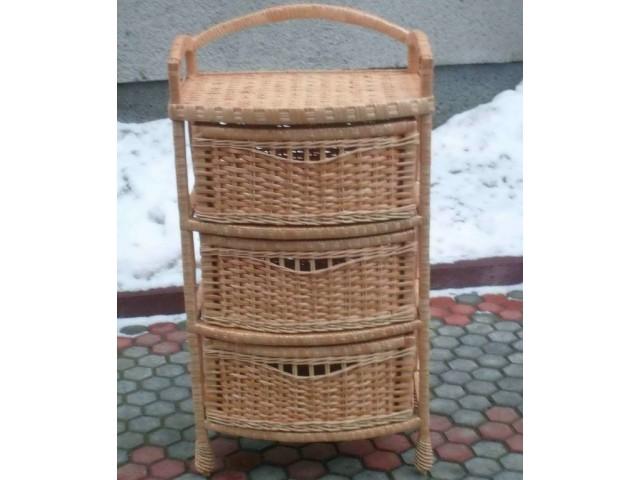 Комод плетений з лози 3-ка Комфорт (Дутий)
