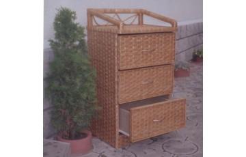 Комод плетеный из лозы 3-ка Мебельный