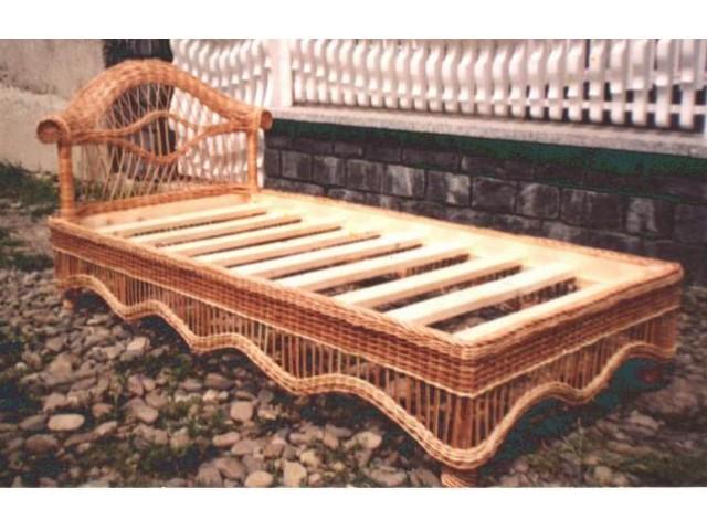 Ліжко плетене з лози 2м Люкс