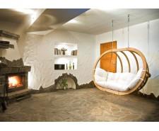 Крісло підвісне деревяне двомісне O-Zone Premier до стелі чи на підставці
