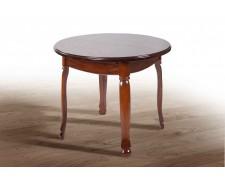 Стіл обідній круглий дерев'яний розкладний «Гаїті» (масив дуба) 100(+30)*100
