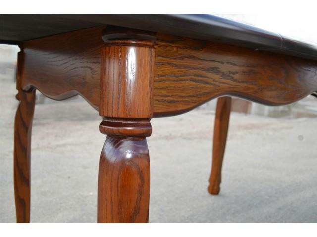 Стіл обідній розсувний дерев'яний Гаїті (масив дуба) +ВІДЕО