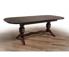 Стіл обідній дерев'яний розкладний «Гетьман» 200(+40+40)*100 (2.8м)