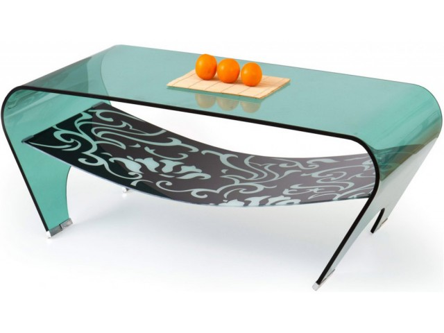 Журнальний столик скляний Halmar EVA
