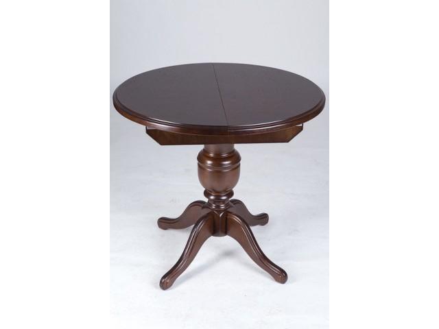 Стіл обідній круглий дерев'яний Гермес 89(+38см) із масиву вільхи