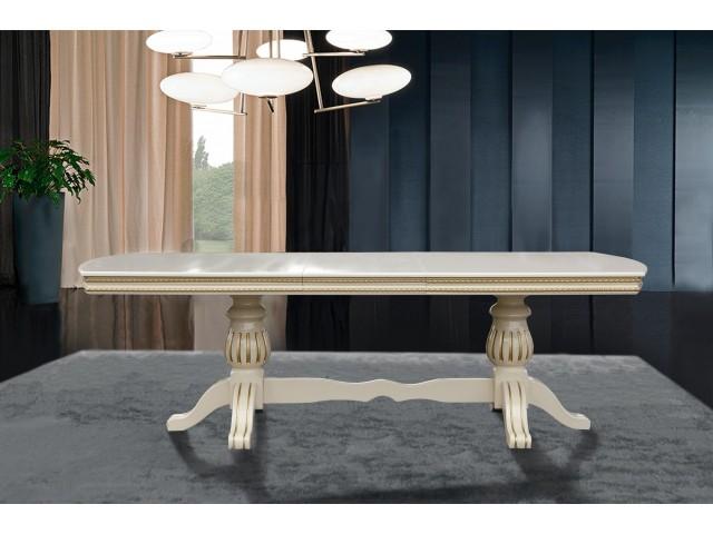 Стіл обідній розкладний дерев'яний Граф 200(+50)*100 см