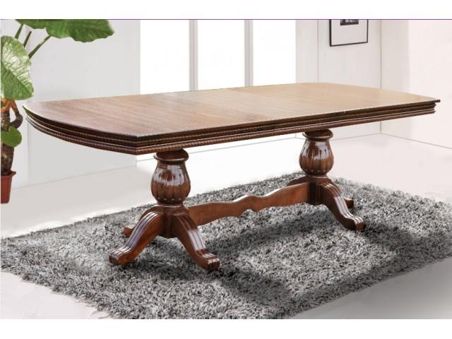 Стол обеденный  раскладной деревянный Граф 200(+50)*100 см