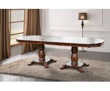 Стіл обідній розкладний дерев'яний Монарх  200 (+50) * 100 см