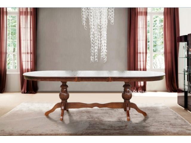 Стіл обідній розкладний дерев'яний Статус 200(+50)*100 см