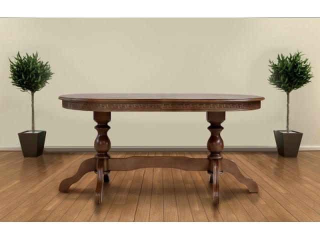 Стіл обідній дерев'яний розсувний Оскар Люкс (масив бука)