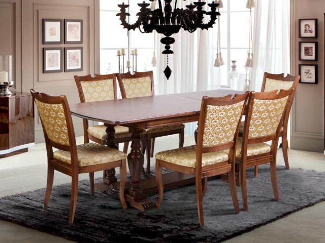 Классический обеденный раздвижной стол Палермо 160+40