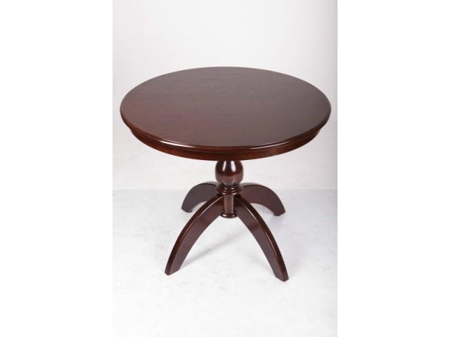 Стіл обідній круглий дерев'яний розсувний Престиж d100+40см
