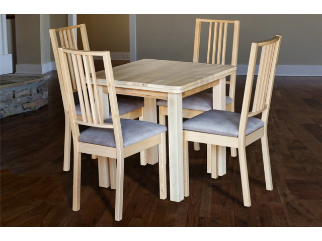 Стіл обідній кухонний дерев'яний СМАРТ-2 (75х75х75см)