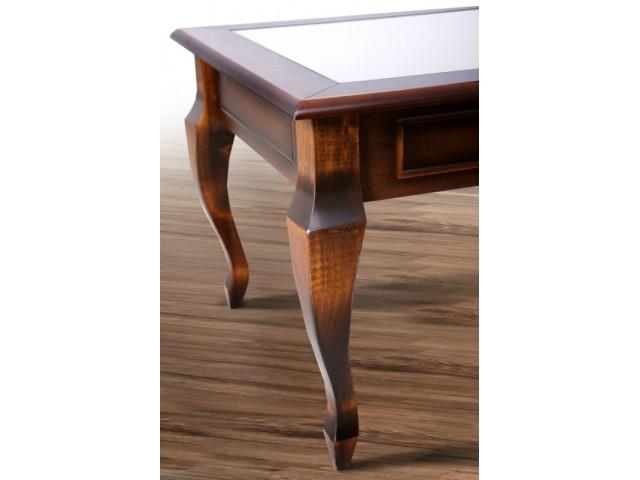 Стіл журнальний дерев'яний зі склом «Вега» 76*60*47см