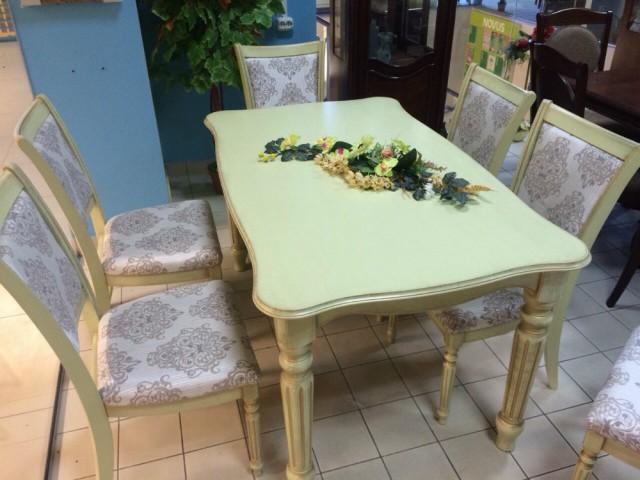 Стол обеденный раздвижной Венеция 120+40 /140+40 (массив ясеня)