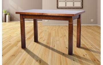 Стол обобеденный рраскладной Атлант (сосна) орех 120+40см