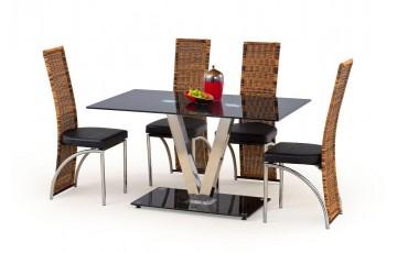 Стол стеклянный кухонный Halmar VELVET