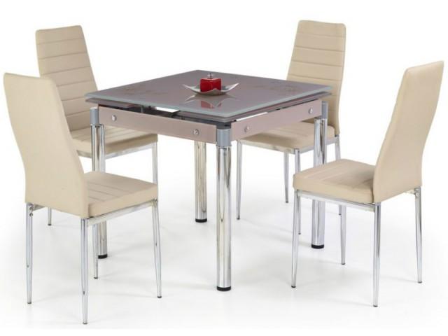 Стіл кухонний скляний розкладний Halmar KENT (в асортименті)