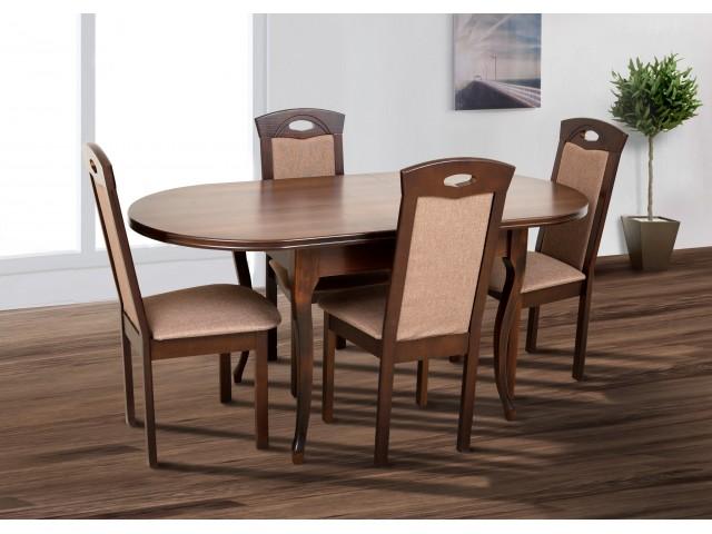 Стіл обідній дерев'яний розкладний «Олівер» 150(+50)*84,5см